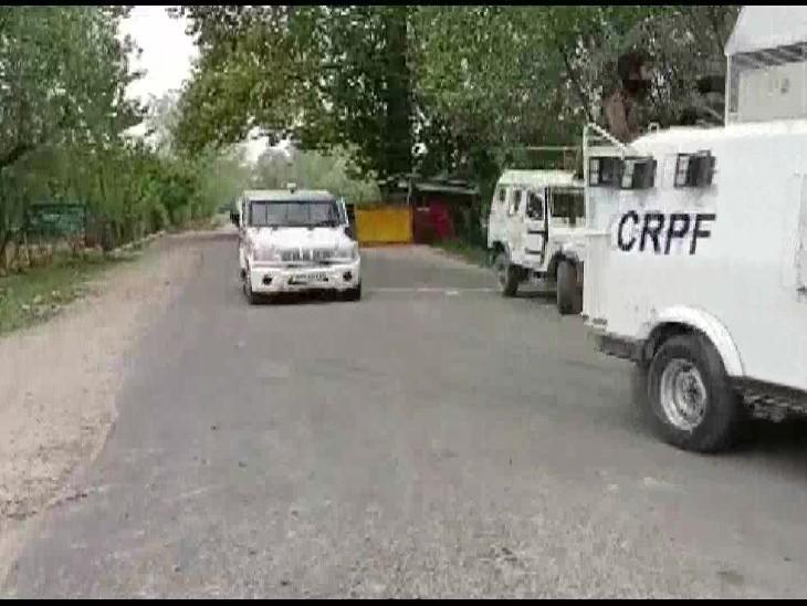 कश्मीर के सोपोर में एनकाउंटर:2 पार्षदों की हत्या में शामिल आतंकी को सुरक्षाबलों ने घेरा, दोनों तरफ से फायरिंग जारी
