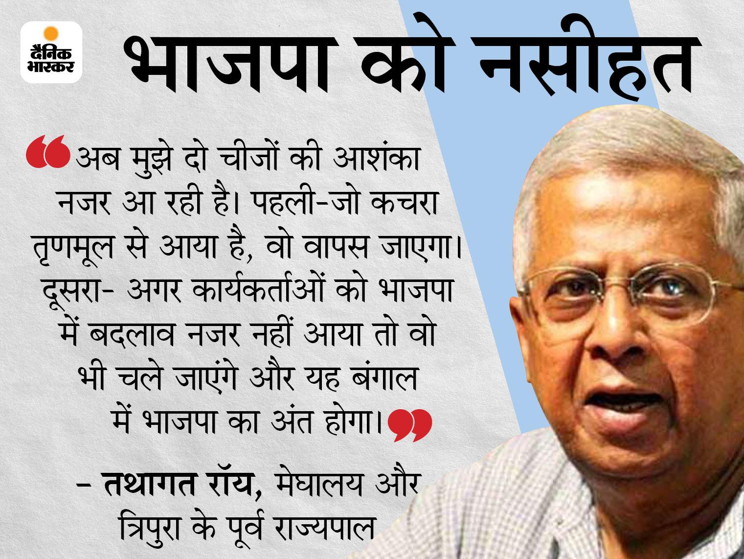 पार्टी के वरिष्ठ नेता तथागत बोले- गलती मोदी-शाह की नहीं; विजयवर्गीय-घोष जिम्मेदार, जिन्होंने तृणमूल के कचरे को टिकट बांटे|देश,National - Dainik Bhaskar