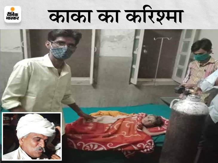 कुएं से मोटर निकालने वाले माधाराम ने 25 मिनट में 4 साल के मासूम को 90 फीट के बोरवेल से निकाला|जोधपुर,Jodhpur - Dainik Bhaskar