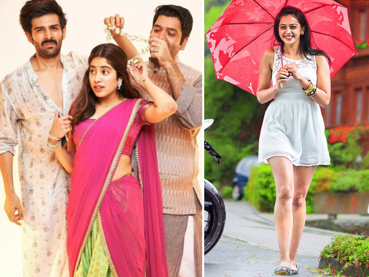 'दोस्ताना 2' से जान्हवी कपूर को निकलवाना चाहते थे कार्तिक आर्यन, 'छतरीवाली' होगा रकुल के कंडोम टेस्टर किरदार वाली फिल्म का नाम|बॉलीवुड,Bollywood - Dainik Bhaskar