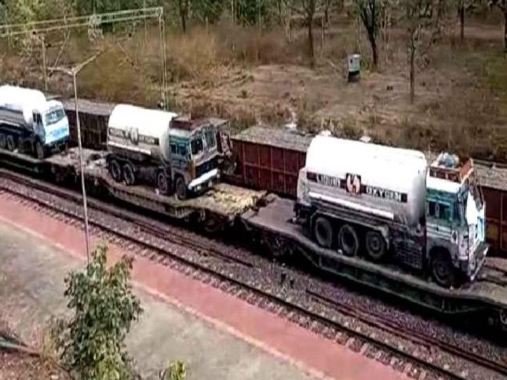 प्रदेश को 4 टैंकरों में 47 मीट्रिक टन लिक्विड ऑक्सीजन मिला, बोकोरा के प्लांट से मिल रही है मदद|जबलपुर,Jabalpur - Dainik Bhaskar