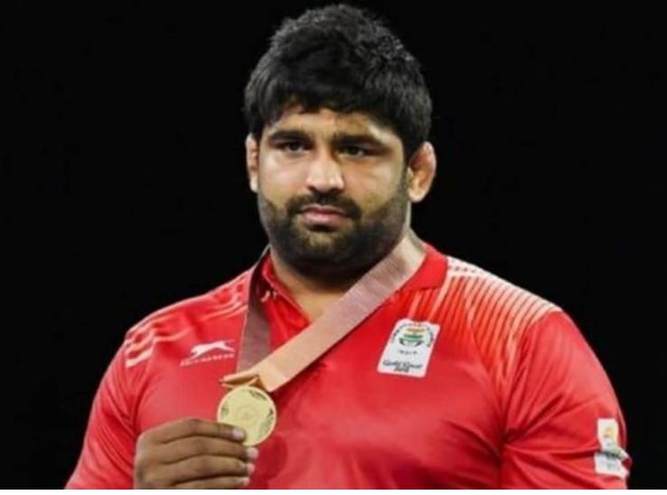 पहलवान सुमित मलिक ने 125 किलोग्राम वेट में वर्ल्ड ओलिंपिक क्वॉलिफायर के फाइनल में पहुंच कर ओलिंपिक कोटा हासिल कर लिया है। - Dainik Bhaskar