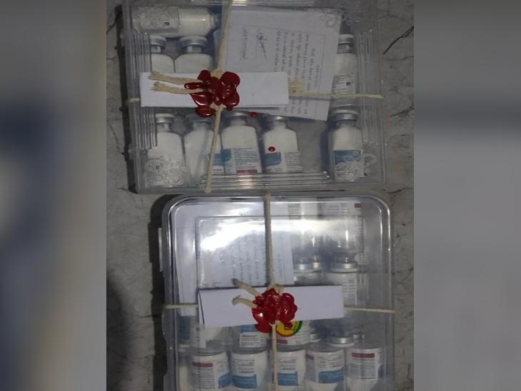 12 बॉक्स इंजेक्शन और जरूरी दवाओं के सरगना ने इंदौर व जबलपुर में अपनी गैंग को दिए थे। एक बॉक्स में 100 इंजेक्शन थे।