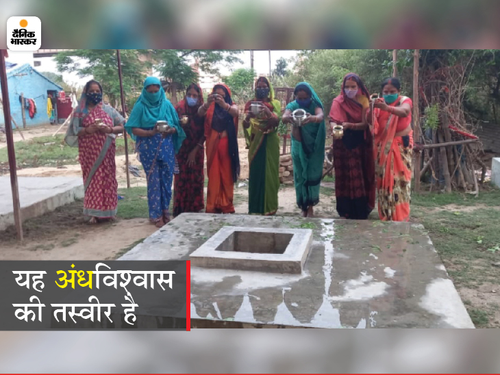 गोरखपुर में 5 दिन से हो रही 'कोरोना माई' की पूजा, महिलाएं जल चढ़ाकर महामारी से निजात दिलाने की प्रार्थना कर रहीं|उत्तरप्रदेश,Uttar Pradesh - Dainik Bhaskar