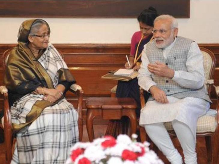 भारत के साथ बांग्लादेश:प्रधानमंत्री शेख हसीना बोलीं- कोविड संकट के समय भारत के साथ खड़े हैं; भारत ने 20 लाख वैक्सीन दान की थीं