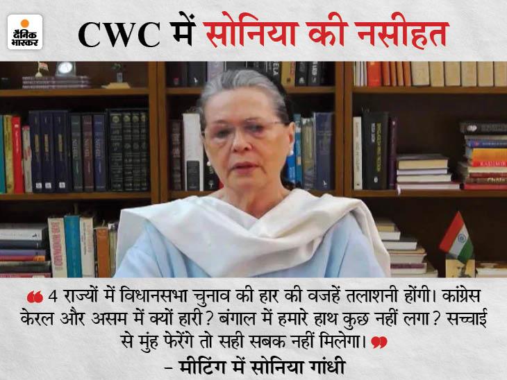 कोरोना की वजह से लिया गया फैसला; पिछली CWC की मीटिंग में 23 जून को चुनाव कराने का प्रपोजल रखा गया था|देश,National - Dainik Bhaskar