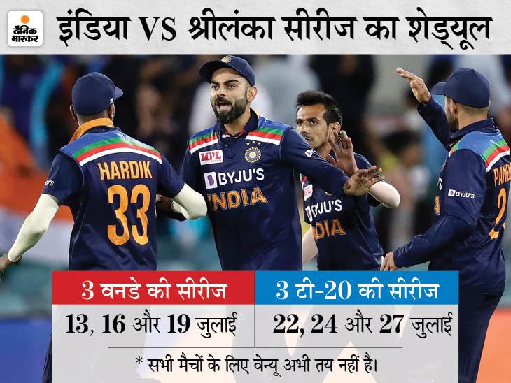 दोनों टीमें 3 टी-20 और 3 वनडे सीरीज खेलेंगी, जुलाई के आखिरी तीन हफ्ते में होंगे मुकाबले|क्रिकेट,Cricket - Dainik Bhaskar