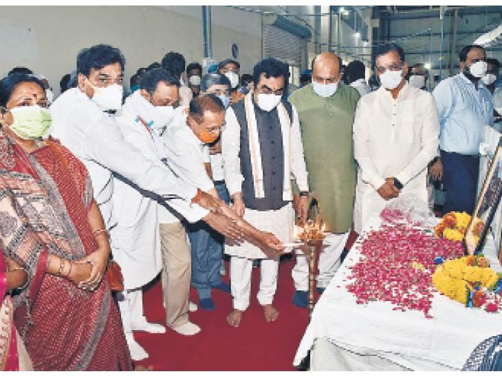 500 बिस्तरों का रानी दुर्गावती कोविड केयर सेंटर का शुभारंभ, तीसरी लहर आने से पहले की तैयारी जबलपुर,Jabalpur - Dainik Bhaskar