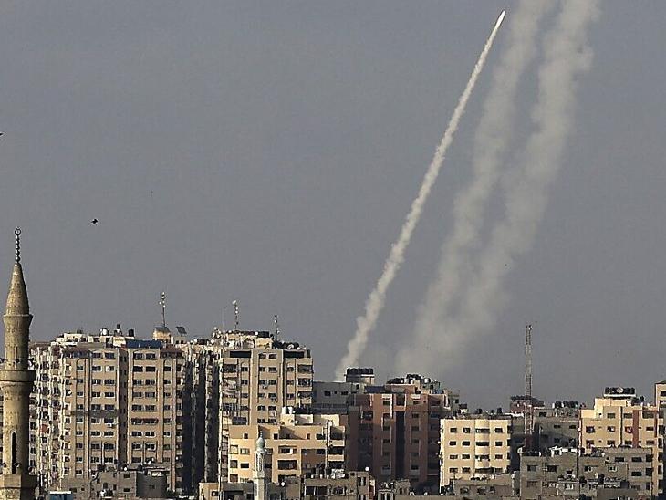 इजराइल-फिलीस्तीन संघर्ष:हमास ने यरुशलम पर 7 रॉकेट दागे; जवाब में इजराइल की एयरस्ट्राइक, 20 लोगों की मौत