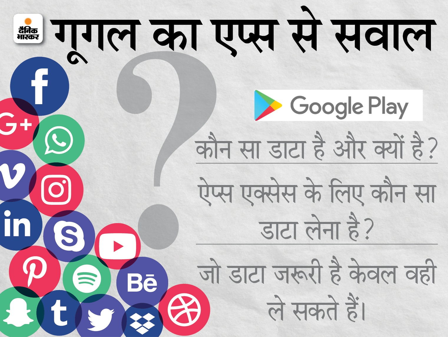 अब कंपनियों को ऐप्स पर यूजर्स की प्राइवेसी रखनी होगी; ऐप्स अनइंस्टॉल करने के बाद डेटा हटाने का रखना होगा ऑप्शन टेक & ऑटो,Tech & Auto - Dainik Bhaskar
