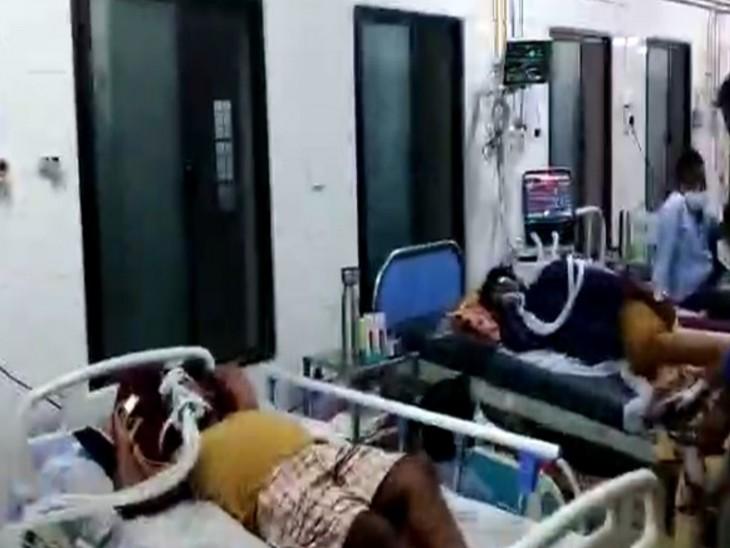इस हॉस्पिटल में ICU और ऑक्सीजन बेड पर 700 कोरोना मरीजों का इलाज चल रहा था। - Dainik Bhaskar