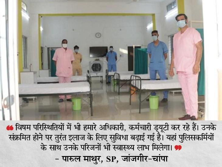 जांजगीर पुलिस लाइन में बनाया गया 20 बेड का अस्पताल, 10 ऑक्सीजन सपोर्ट वाले; पुलिसकर्मियों और उनके परिजनों का होगा इलाज छत्तीसगढ़,Chhattisgarh - Dainik Bhaskar