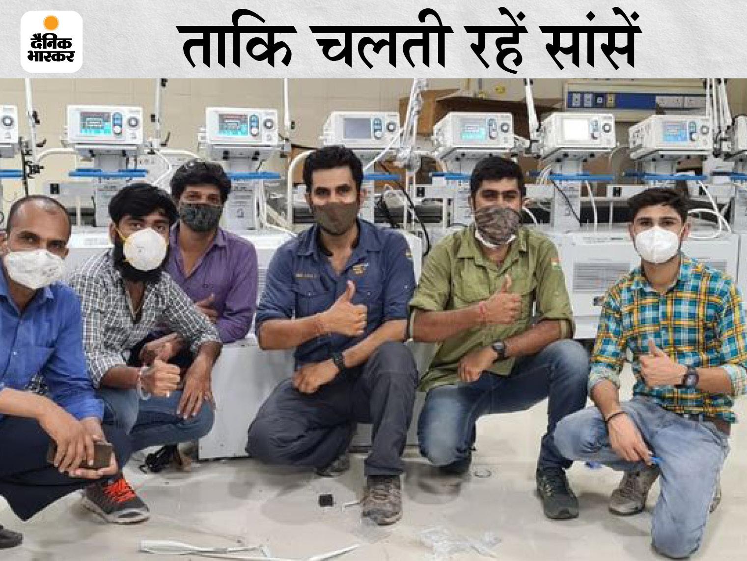 दिल्ली से आए इंजीनियर ने युवाओं के साथ मिल 24 घंटे में चालू किए, पांच पुराने भी ठीक करने में जुटे बीकानेर,Bikaner - Dainik Bhaskar