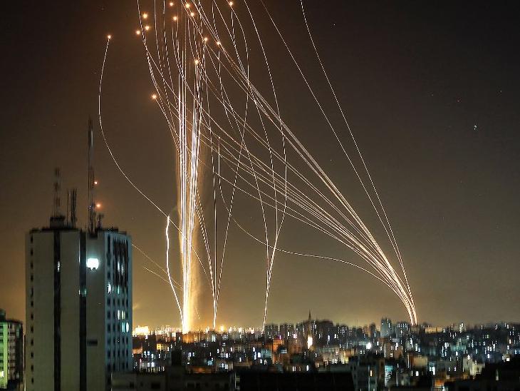 40 घंटे में गाजा से हजार से ज्यादा रॉकेट दागे गए, आयरन डोम ने इजराइल को इन हमलों से बचाया|विदेश,International - Dainik Bhaskar