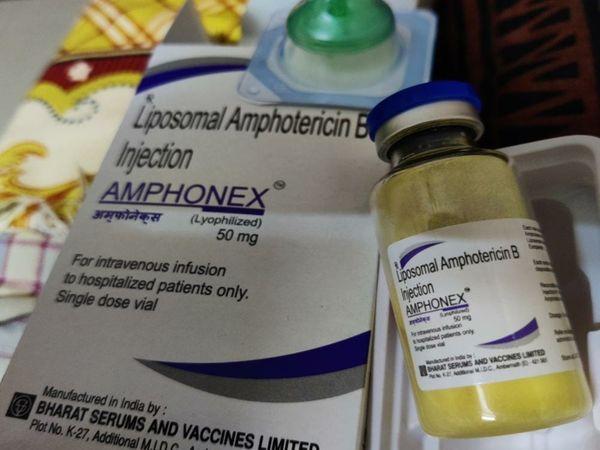 अब ब्लैक फंगस में कारगर लाइपोसोमल एम्फोटेरिसिन बी इंजेक्शन बाजार से गायब; ENT डॉक्टर्स को भी 11 हजार रुपए में मिल रहा जयपुर,Jaipur - Dainik Bhaskar