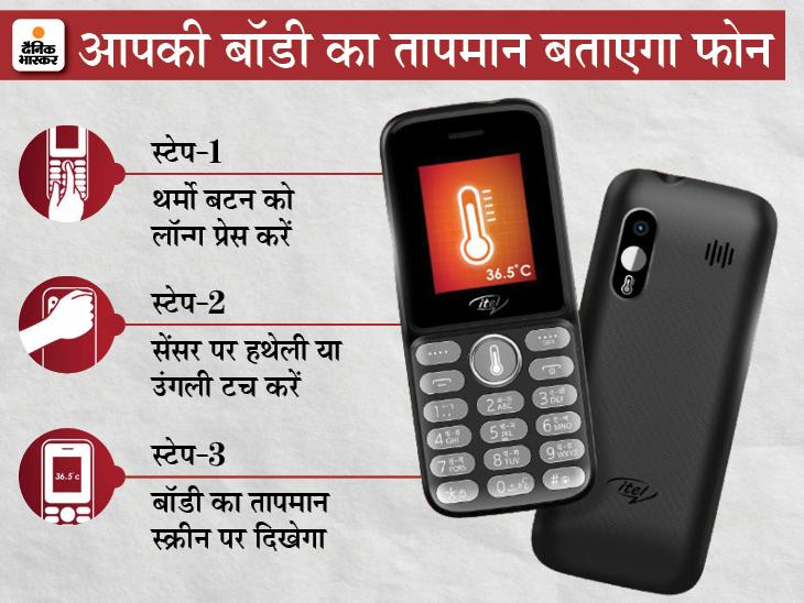आईटेल के इस फोन में टेम्प्रेचर सेंसर दिया; हिंदी-अंग्रेजी और देश की 6 भाषाओं में कॉल, मैसेज के बारे में बताएगा टेक & ऑटो,Tech & Auto - Dainik Bhaskar