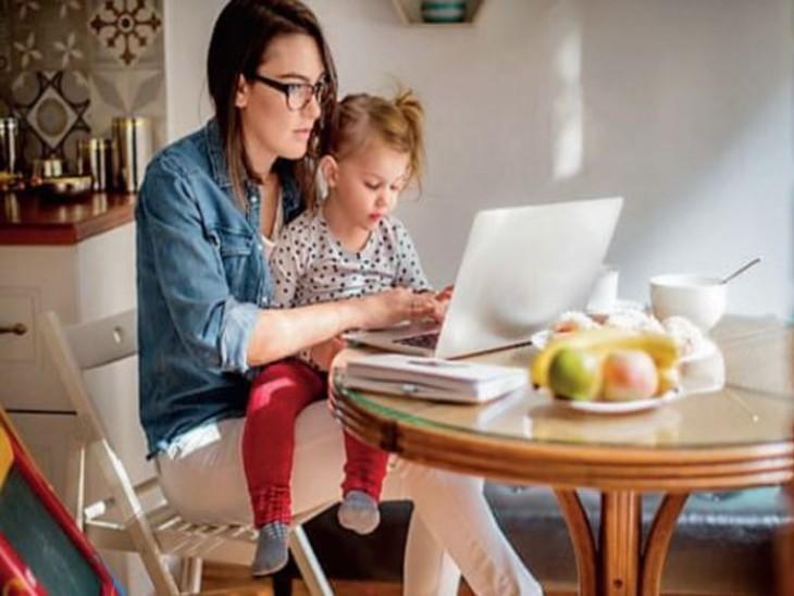 अमेरिका में 10 लाख नौकरियां आईं, लेकिन मांओं के सामने चुनौती- काम पर जाएं या बच्चों की देखभाल करें|विदेश,International - Dainik Bhaskar