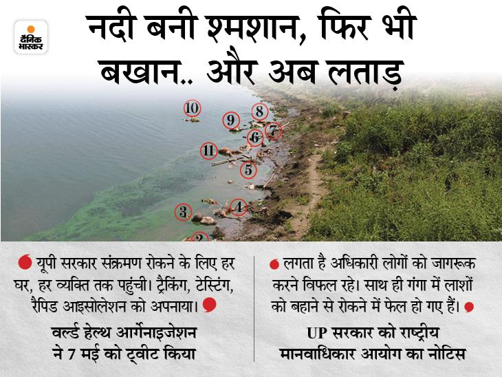 योगी सरकार का दावा- गांवों में कोरोना मैनेजमेंट का WHO भी कायल; मानवाधिकार आयोग बोला- गंगा में लाशें बहीं, सरकार फेल उत्तरप्रदेश,Uttar Pradesh - Dainik Bhaskar