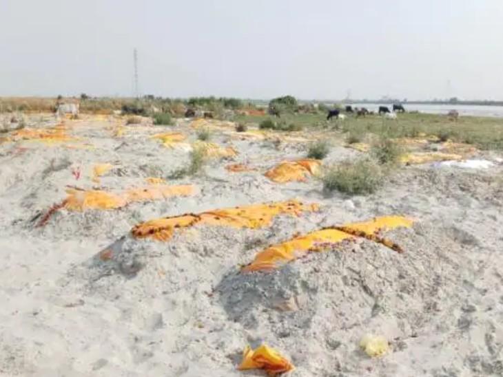 उन्नाव के के शुक्लागंज घाट और बक्सर घाट के पास करीब 900 से ज्यादा लाशें दफन हैं।