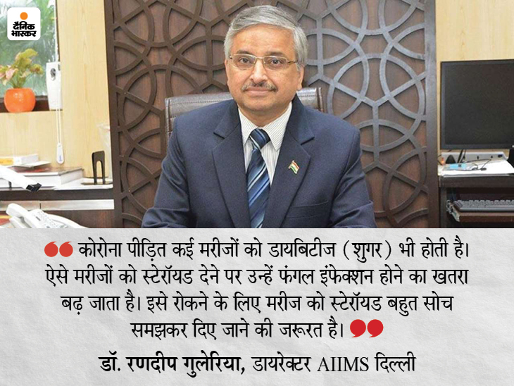 स्टेरॉयड का बेजा इस्तेमाल नहीं रोका गया तो बढ़ सकते हैं इन्फेक्शन के मामले, प्रोटोकॉल फॉलो करें अस्पताल देश,National - Dainik Bhaskar