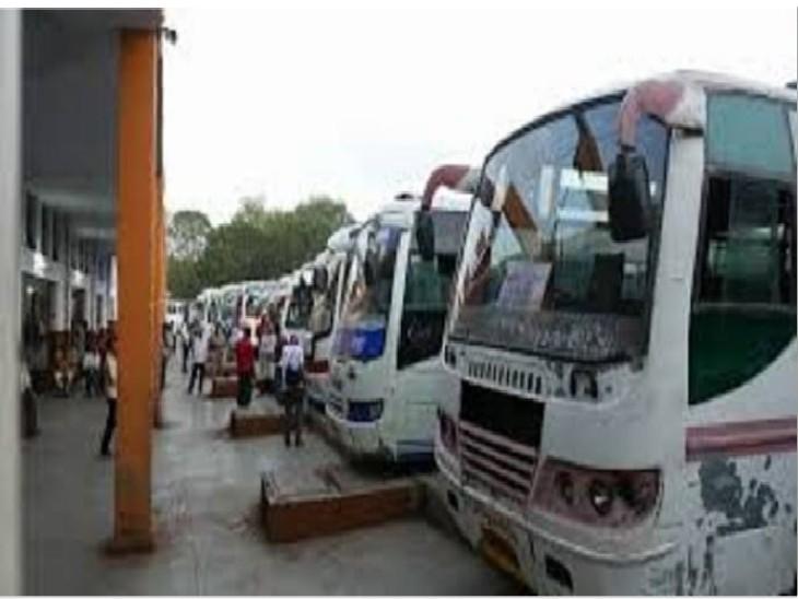 ग्वालियर से UP के शहरों के लिए चलती हैं 150 बसें, परिवहन बंद होने से बढ़ी टैक्सी की मांग, वसूल रहे मनमाना किराया|ग्वालियर,Gwalior - Dainik Bhaskar