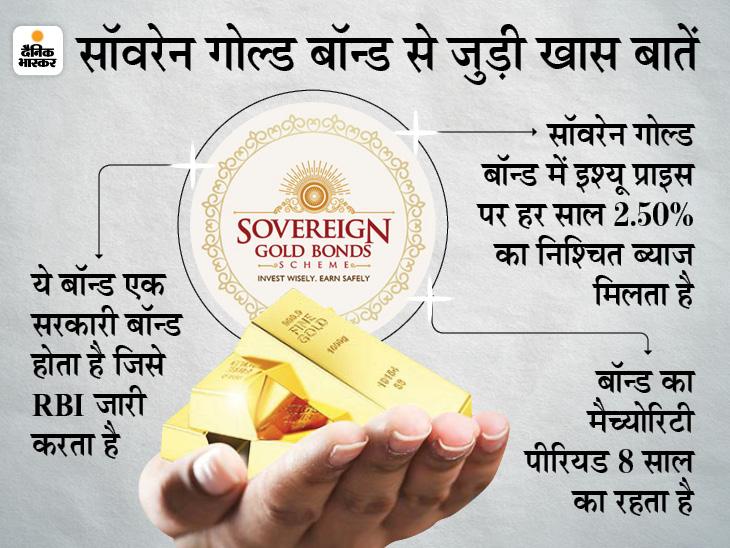 आज से सस्ता सोना खरीदने का मिल रहा मौका, 21 मई तक सॉवरेन गोल्ड बॉन्ड में कर सकते हैं निवेश बिजनेस,Business - Dainik Bhaskar