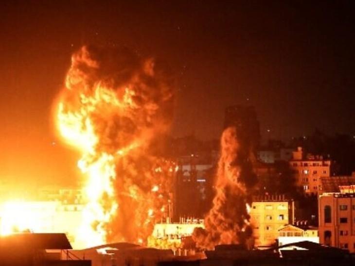 इजराइल ने 54 फाइटर जेट्स से 20 मिनट में 35 जगह बमबारी की;गाजा से भी रॉकेट दागना जारी|विदेश,International - Dainik Bhaskar