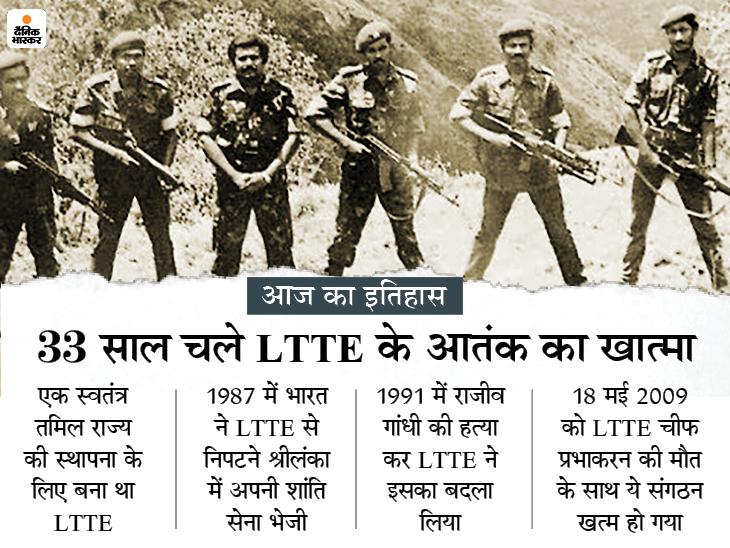 आतंकी संगठन LTTE का खात्मा, इसी के आत्मघाती हमले में गई थी भारत के पूर्व प्रधानमंत्री राजीव गांधी की जान|देश,National - Dainik Bhaskar