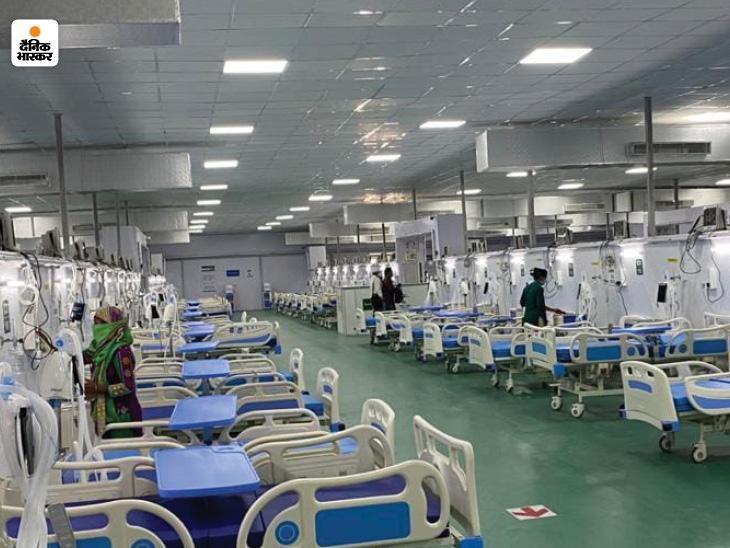 पंडित राजन मिश्र अस्थायी कोविड 250 बेड का नया ब्लाक भी खोल दिया गया है। - Dainik Bhaskar