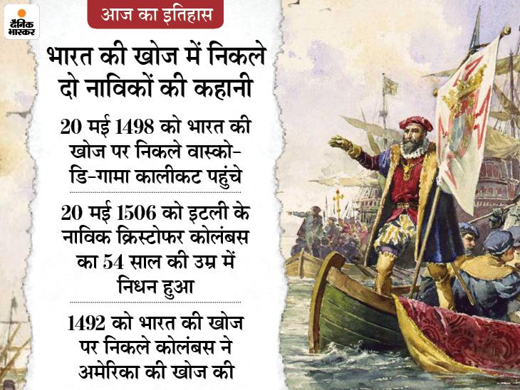 भारत की खोज पर निकले वास्को-डि-गामा आज पहुंचे थे कालीकट, पुर्तगाल से भारत आने में लगे थे 10 महीने|देश,National - Dainik Bhaskar
