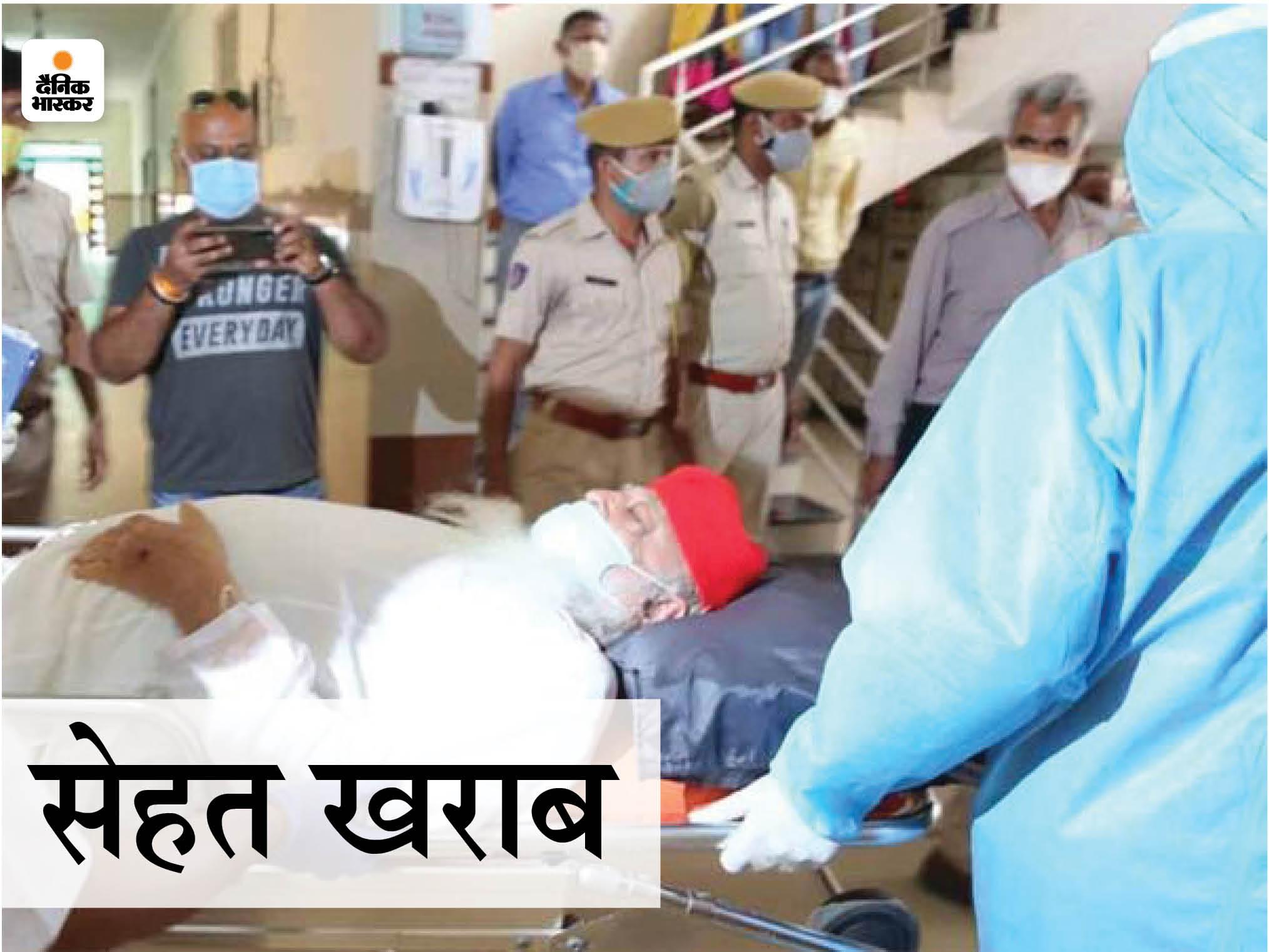92 पर पहुंचा ऑक्सीजन लेवल; AIIMS जाने से मना किया तो जेल में ही आयुर्वेद डॉक्टर बुलाकर जांच कराई|जोधपुर,Jodhpur - Dainik Bhaskar