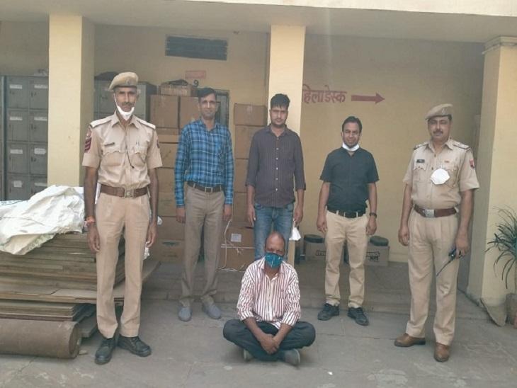 5 करोड़ रुपए की 25 लाख नशीली टैबलेट व कैप्सूल बरामद, मानसरोवर से बिना बिल टेम्पो में लाया, ट्रांसपोर्ट से अजमेर भेज रहे थे, चालक गिरफ्तार|राजस्थान,Rajasthan - Dainik Bhaskar