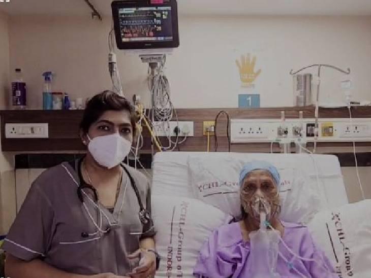 इंदाैर में 70 साल की बुुजुर्ग को दी 2-डीजी दवा, एक घंटे में ऑक्सीजन सेचुरेशन 92 से बढ़कर 94 हुआ इंदौर,Indore - Dainik Bhaskar