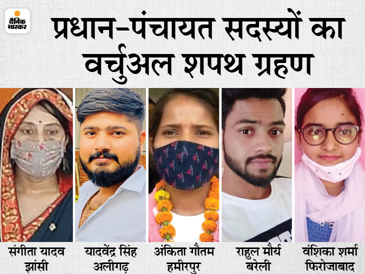 फिरोजाबाद में BCA स्टूडेंट ने शपथ लेकर कहा- कोरोना को हराना है, अलीगढ़ में 24 साल के प्रधान ने खींचा विकास का खाका उत्तरप्रदेश,Uttar Pradesh - Dainik Bhaskar