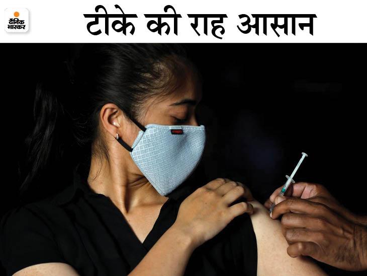 अब ऑनलाइन स्लॉट बुक कराना जरूरी नहीं, ऑन द स्पॉट रजिस्ट्रेशन से भी लगवा सकेंगे टीका जयपुर,Jaipur - Dainik Bhaskar