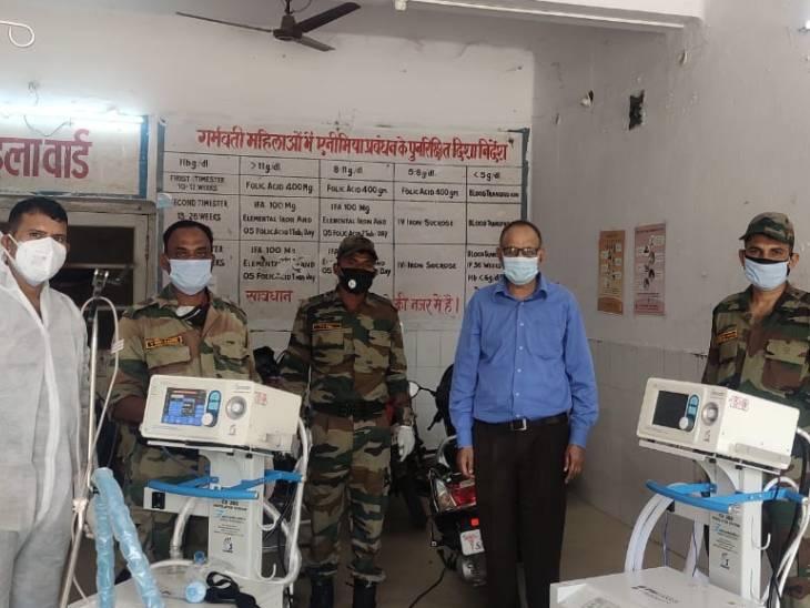 आर्मी ने झांसी से छतरपुर आकर सुधारे जिला अस्पताल के वेंटीलेटर; जिस काम में ढाई लाख रुपए का खर्च आता, सेना ने फ्री में कर दिया|छिंदवाड़ा,Chhindwara - Dainik Bhaskar