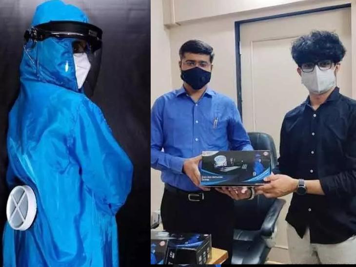 PPE किट पहनने पर डॉक्टर मां गर्मी से परेशान हो रही थी, बेटे ने PPE किट को कूल रखने वाली डिवाइस बना दी|महाराष्ट्र,Maharashtra - Dainik Bhaskar