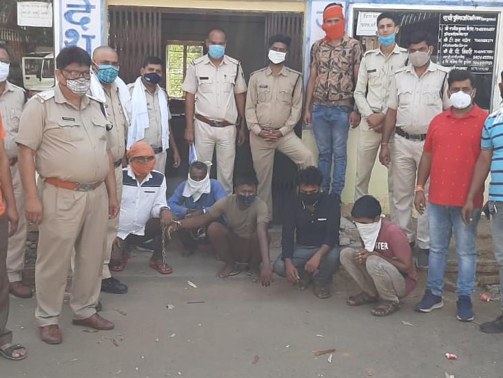 गुना सहित शिवपुरी जिले में चोरी करने वाली पारदी गैंग को पुलिस ने पकड़ा, शहर के दो सुनारों को बेंचते थे चोरी का सामान गुना,Guna - Dainik Bhaskar