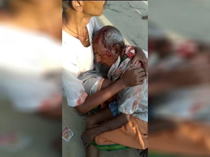 बहराइच में पुजारी पर लाठी-डंडे से जानलेवा हमला, लखनऊ रेफर गोरखपुर,Gorakhpur - Dainik Bhaskar