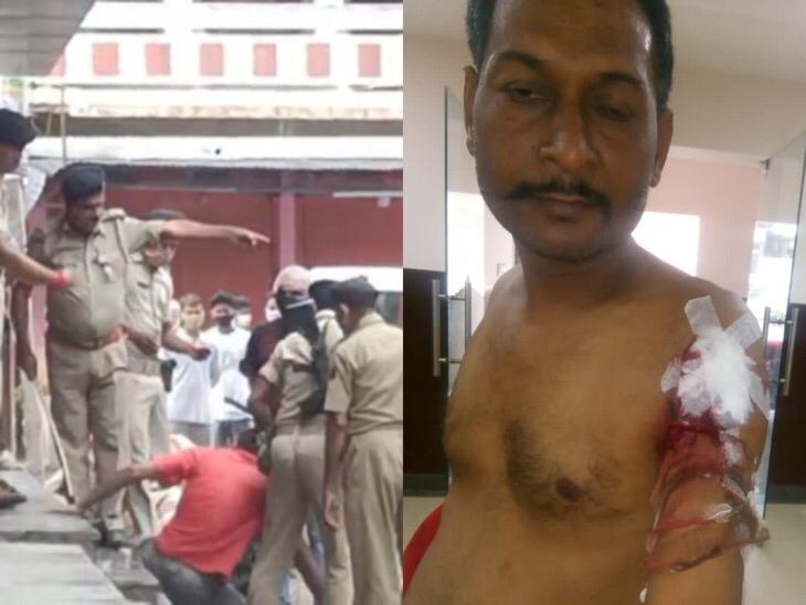 छपरा से सामने आया VIDEO देखें, लॉकडाउन में दुकान बंद करने में देरी की ऐसी सजा मिली सारण,Saran - Dainik Bhaskar
