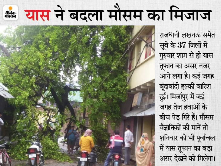 लखनऊ समेत 37 जिलों में बदला मौसम, महाराजगंज में झमाझम; वैज्ञानिक बोले- फसलों के लिए फायदेमंद है बारिश|उत्तरप्रदेश,Uttar Pradesh - Dainik Bhaskar