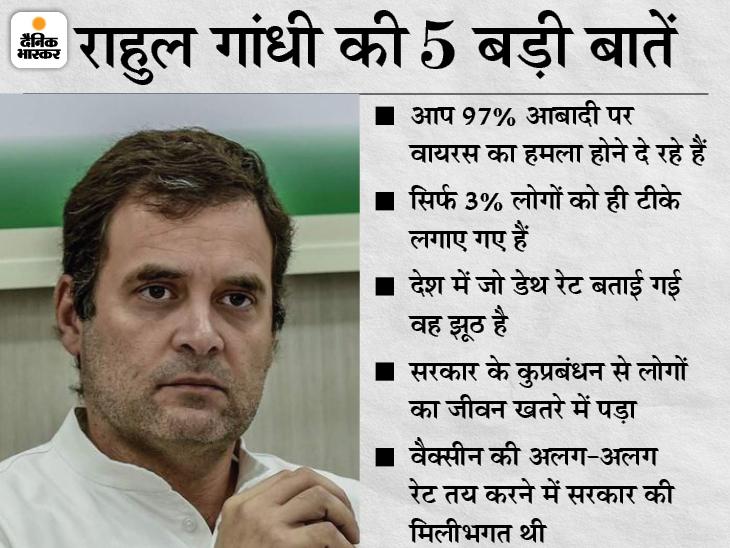 कांग्रेस नेता ने कहा- प्रधानमंत्री की नौटंकी कोरोना की दूसरी लहर के लिए जिम्मेदार; डेथ रेट के आंकड़े झूठे|देश,National - Dainik Bhaskar