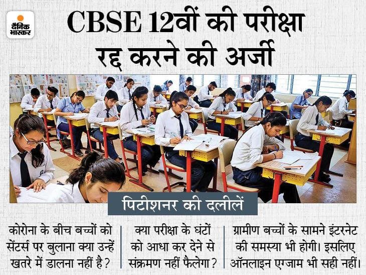 एग्जाम रद्द करने की अर्जी पर SC में सुनवाई सोमवार तक टली, कोर्ट ने याचिकाकर्ता को याचिका की कॉपी बोर्ड को देने को कहा|देश,National - Dainik Bhaskar