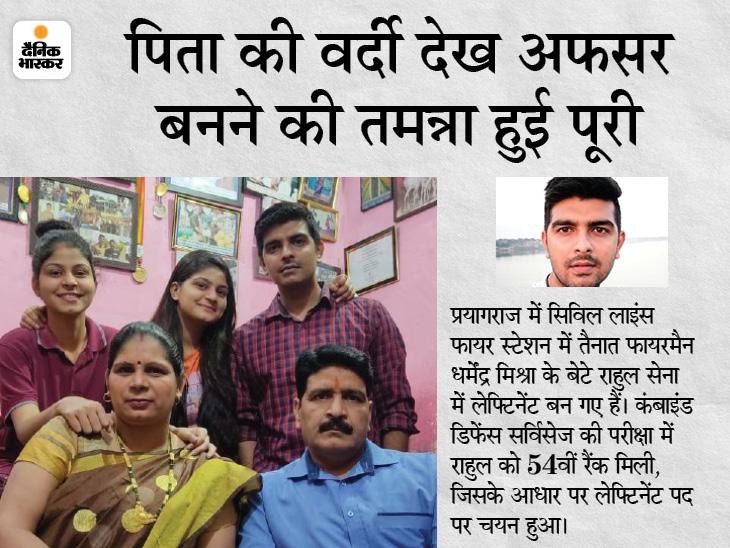 प्रयागराज के राहुल ने CDS की परीक्षा में ऑल इंडिया 54वीं रैंक हासिल की; श्रीलंका में फहराया था तिरंगा|उत्तरप्रदेश,Uttar Pradesh - Dainik Bhaskar