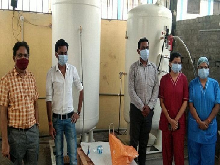 बलौदाबाजार के कोविड अस्पताल में ऑक्सीजन प्लांट शुरू, हर दिन 1914 लीटर उत्पादन की क्षमता; सूरजपुर में 30 बेड के अस्पताल का शिलान्यास|छत्तीसगढ़,Chhattisgarh - Dainik Bhaskar