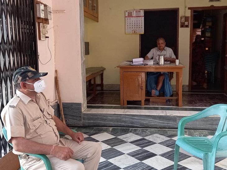 डॉक्टर सुदीप के रिश्तेदार के घर के बाहर पुलिसकर्मी तैनात किए।