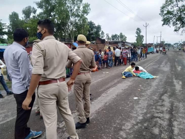 पत्नी और साले के साथ ससुराल से लौट रहे युवक की बाइक को ट्रक ने मारी टक्कर, पत्नी की मौके पर ही दर्दनाक मौत|लखनऊ,Lucknow - Dainik Bhaskar