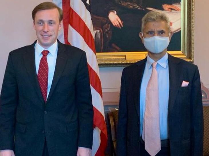 अमेरिका राष्ट्रीय सुरक्षा सलाहकार जैक सुलिवान के साथ विदेश मंत्री एस जयशंकर।