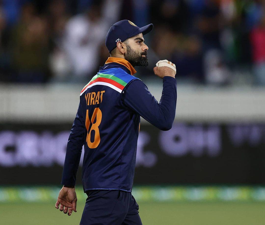 लिमिटेड ओवर क्रिकेट में भारतीय टीम की ताजा जर्सी में कप्तान विराट कोहली।