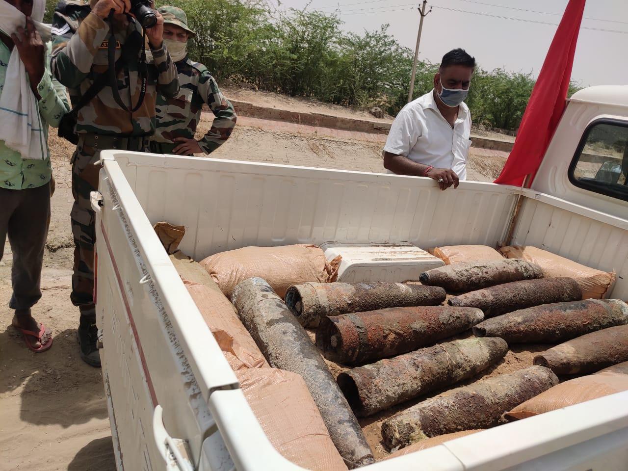 कई दिन से रखे थे पुलिस की कस्टडी में, अब किए गए सेना के सुपुर्द, महाजन रेंज में किए जाएंगे डिफ्यूज|श्रीगंंगानगर,Sriganganagar - Dainik Bhaskar